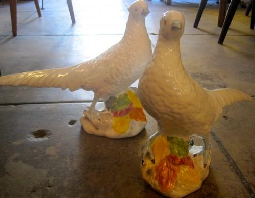Porcelain Pheasant Sculptures