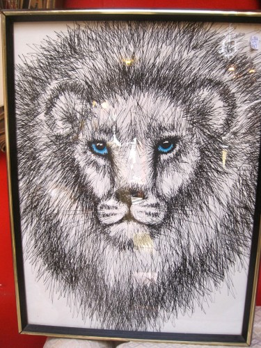 Vintage Lion Print By Rabindia