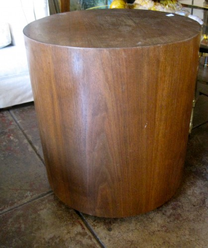 Sold i 39 m stumped 1970s round wood end table casa for Round wood side table