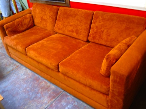 SOLD | Burned Out | 70s Sleeper Sofa