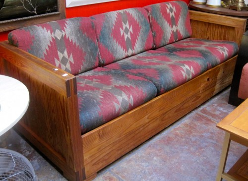 Sold Desert Ed Cabin Hand Crafted Wood Sofa With