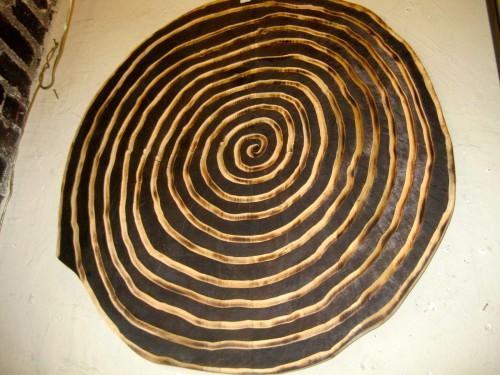 Sold Vertigo Inducing Spiral Carved And Burnt Spiral