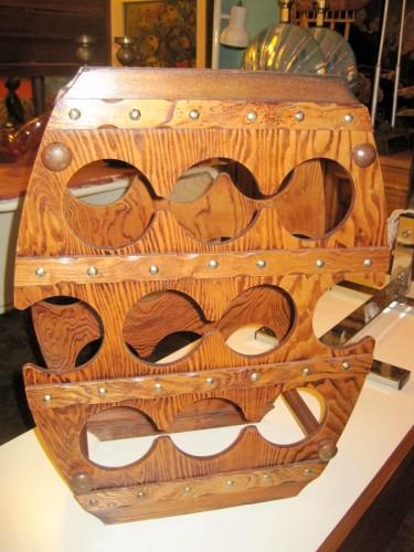Wooden Wine Holder Barrel