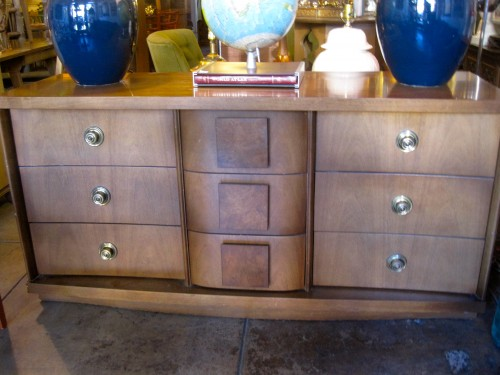 SOLD | Post War Decor | 1956 Dresser By Bassett Furniture With Nine Drawers
