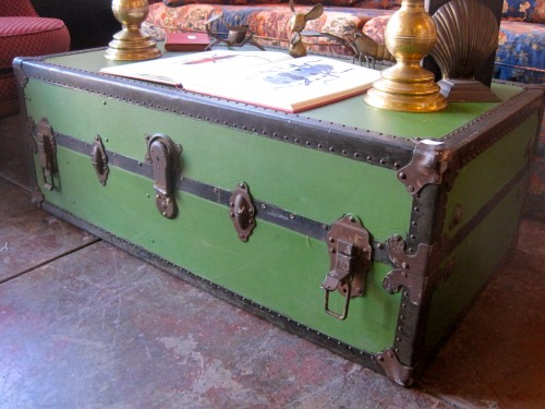 Green Trunk Coffee Table