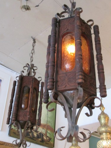 Tough enough two rustic hacienda style chandeliers for Hacienda style lighting