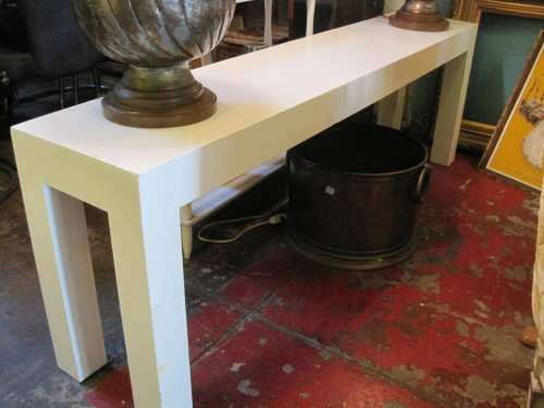 this 1970s custom console table has a chunky modern design and is reminiscent of the parson table this style of table was designed by jeanmichael frank