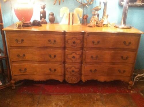 Colonial Caribbean Rare Vintage Mahogany Dresser From