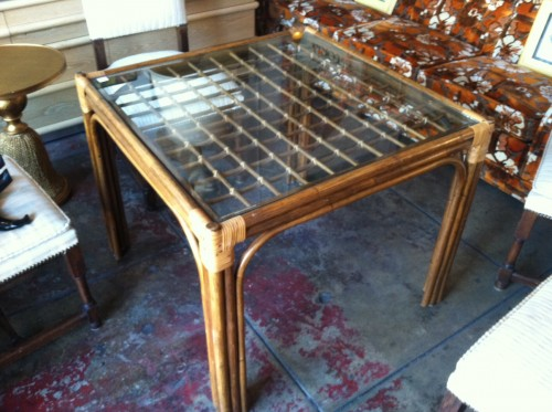 break the fast small vintage bamboo dining table casa victoria
