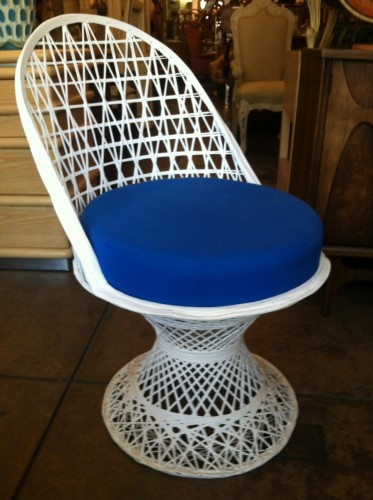Set of Four Mid-Century Fiberglass Patio Chairs