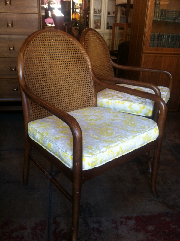 Longing For Loved Ones | Pair Of 60s Cane Chairs By Drexel