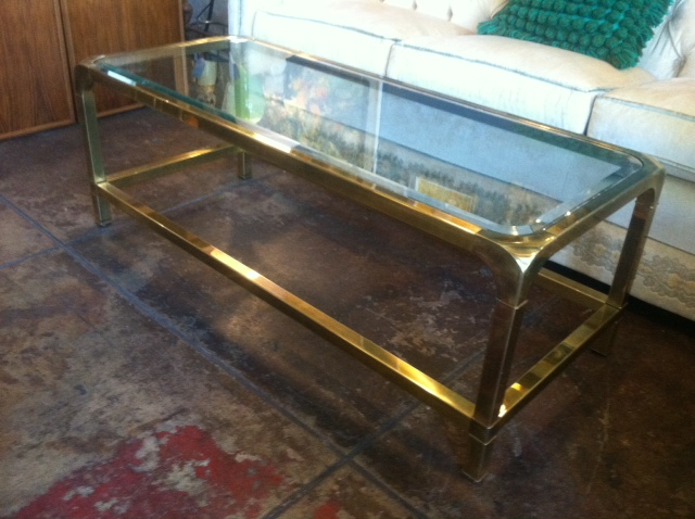 coffee table beveled glass