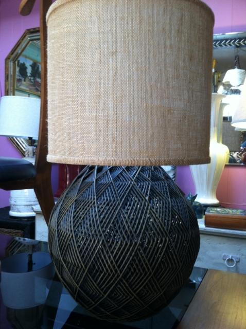 basket weave lamp