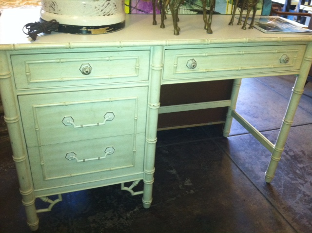 Office Nook Thomasville Desk With Faux Bamboo Style