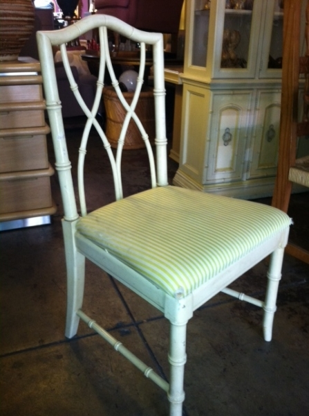 Not This Bum Thomasville Chair With Faux Bamboo Style