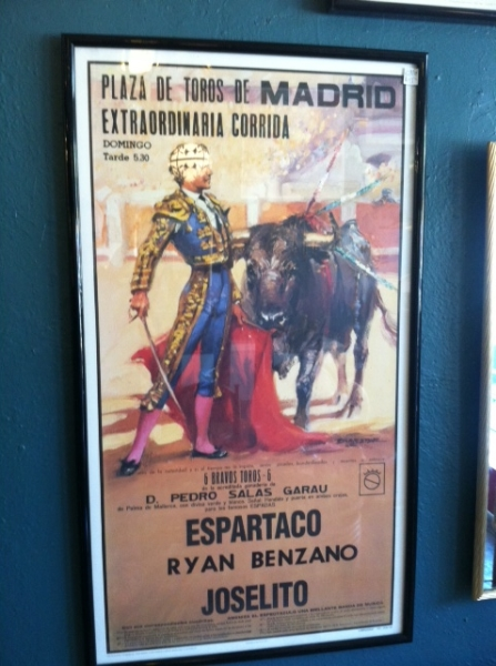 vintage bullfighting poster