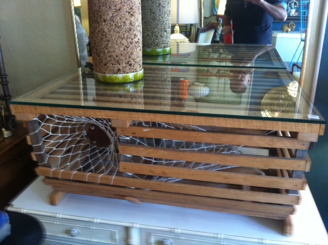 Summer Smells | Custom Made Lobster Trap Coffee Table — Casa Victoria Vintage Furniture Los Angeles
