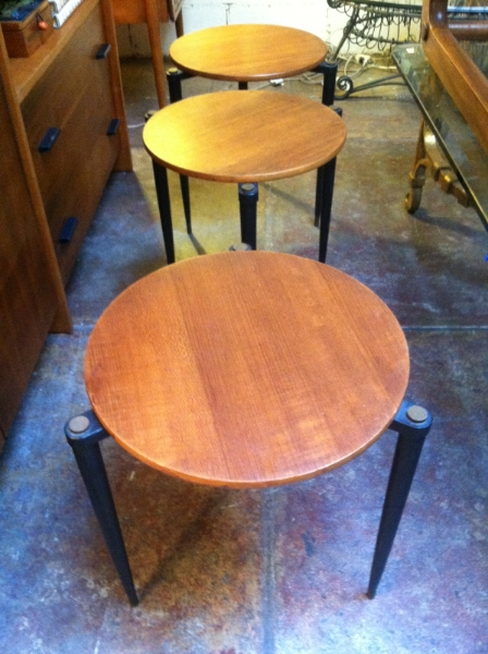 set of three japanese stacking tables
