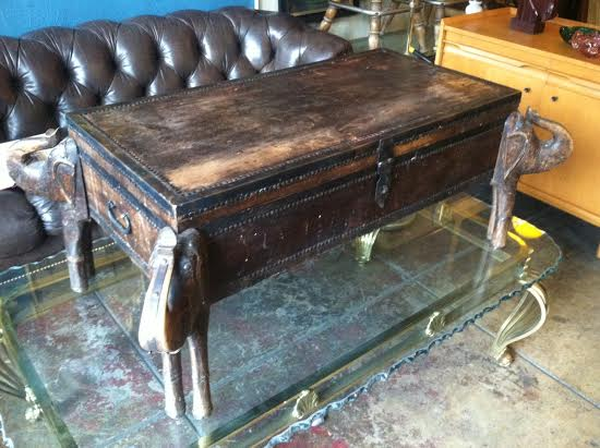 SOLD | Treasure Trove Of Memories | Hand Crafted Elephant Coffee Table U2014  Casa Victoria Vintage Furniture Los Angeles
