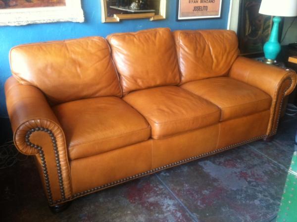 Merveilleux 1 Butterscotch Leather Sofa // 4 Different Ways U2014 Casa Victoria Vintage  Furniture Los Angeles