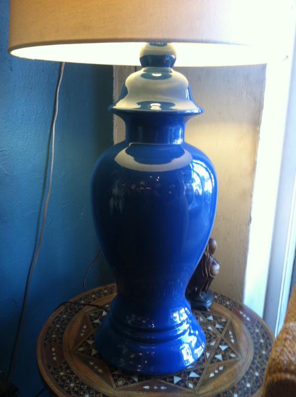 blue ginger jar lamps