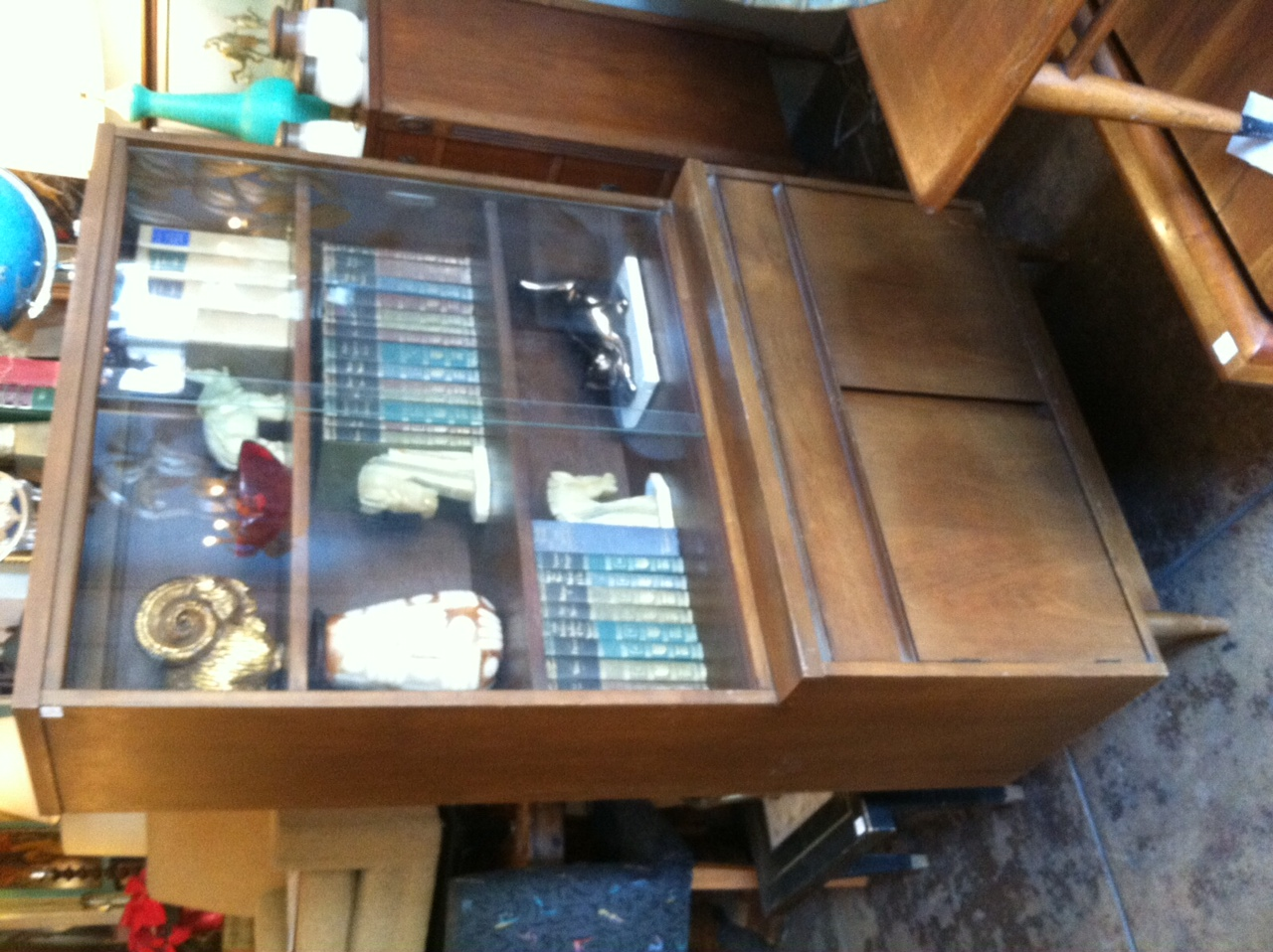 compact mid-century china cabinet