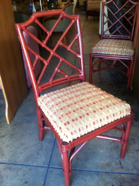 Set Of Four Bamboo Dining Chairs. Palecek ...