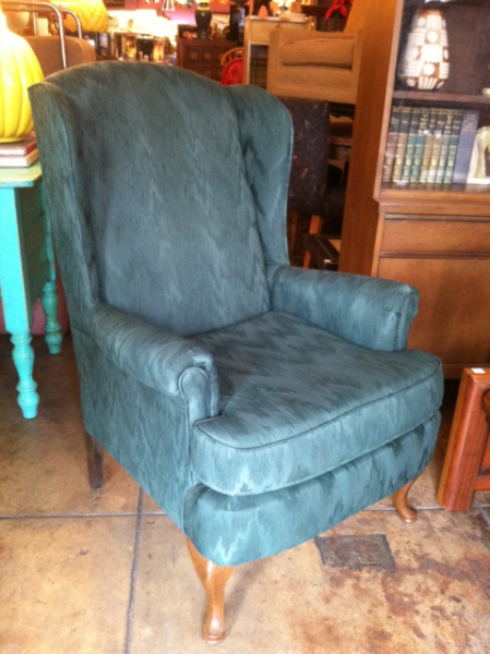 pair of vintage green chairs