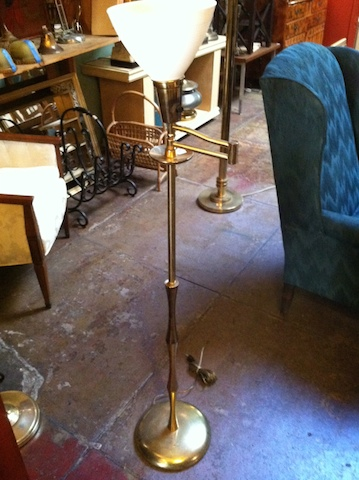 Mid Century Brass Floor Lamp by Marbro