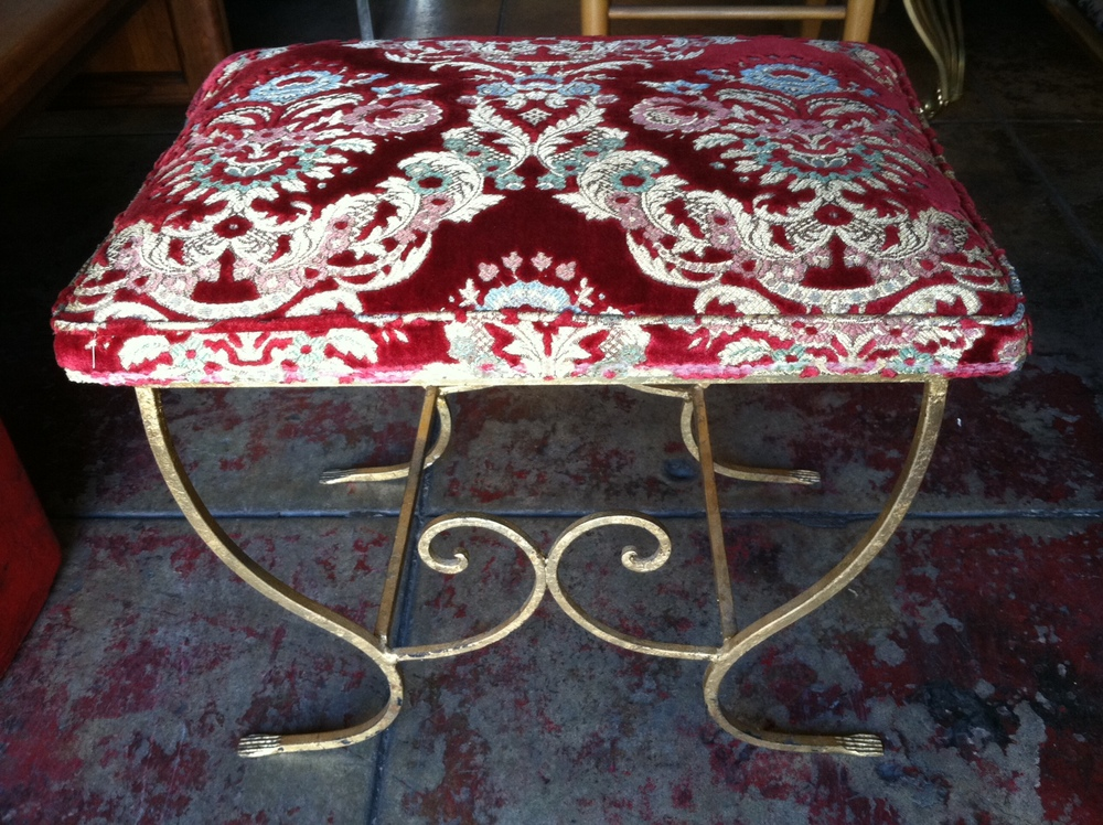 iron vanity stool