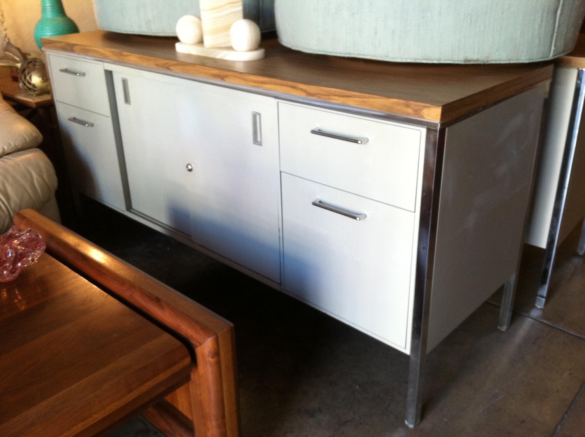 Built Tough   Mid Century Metal Office Credenza U2014 Casa Victoria Vintage  Furniture Los Angeles