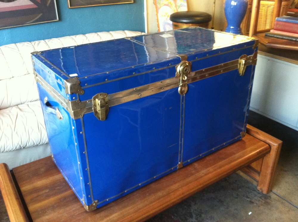 French Blue Cedar Lined Trunk