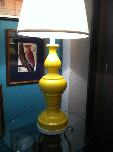 Classic Yellow Pottery Lamp