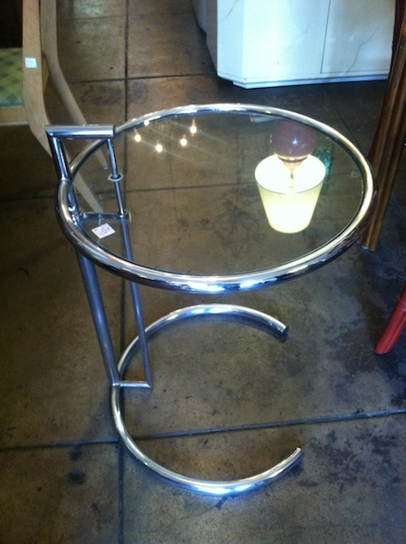 Iconic Chrome and Glass Side Table