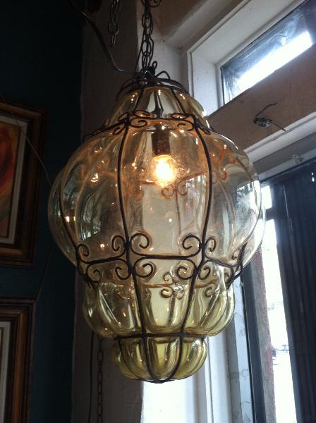 large vintage Murano lantern