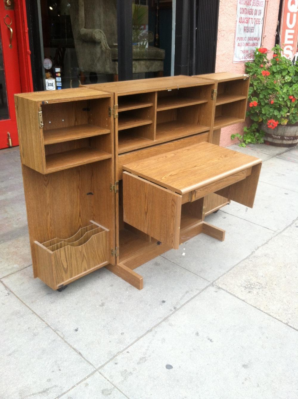 vintage desk cabinet