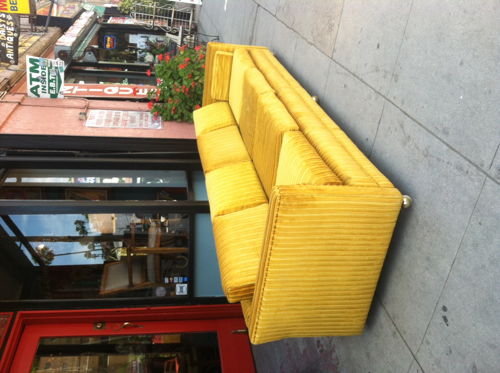 SOLD | A Queen And Her Consort | 1960s Gold Velvet Tuxedo Sofa U2014 Casa  Victoria Vintage Furniture Los Angeles