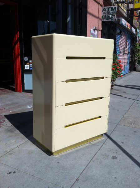 1980s Lacquered Highboy Dresser