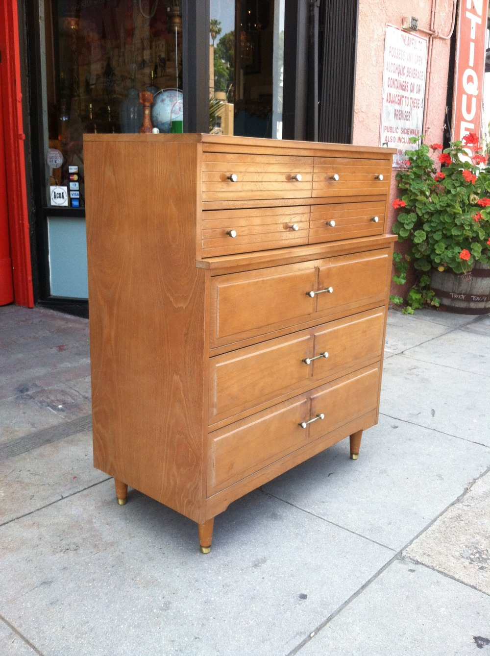 Mid-century High Boy Dresser