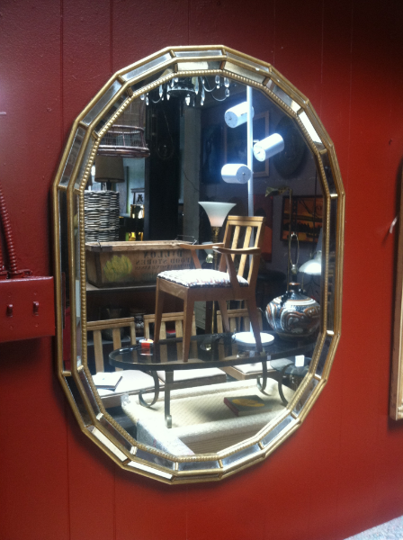 1970s Gilded Wood Mirror