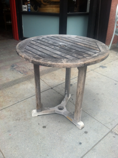Vintage Teak Bistro Table