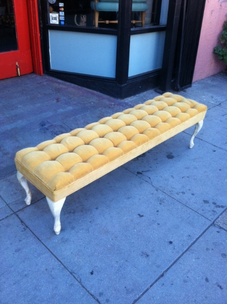 Mid-century Buttoned Bench