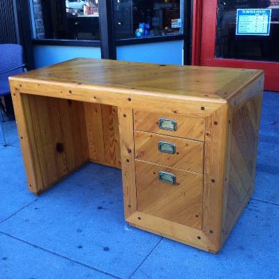 Custom Made 1970s Pine Desk
