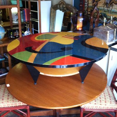 Colorful Round Coffee Table