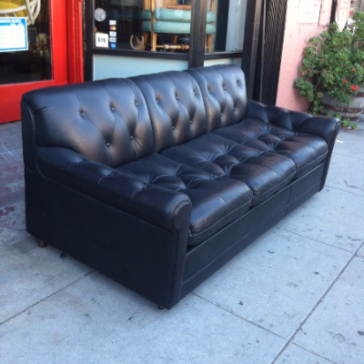 Vintage Leather Sleeper Sofa