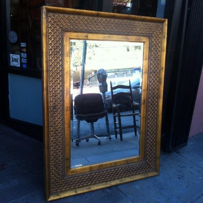 "Large ""Gold Fish"" Mirror"