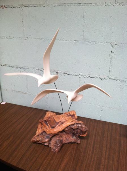 Vintage seagull sculpture