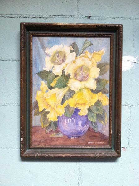 1930s Still Life Watercolor