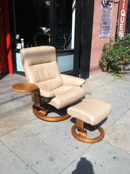 leather recliner by Ekornes of Sweden