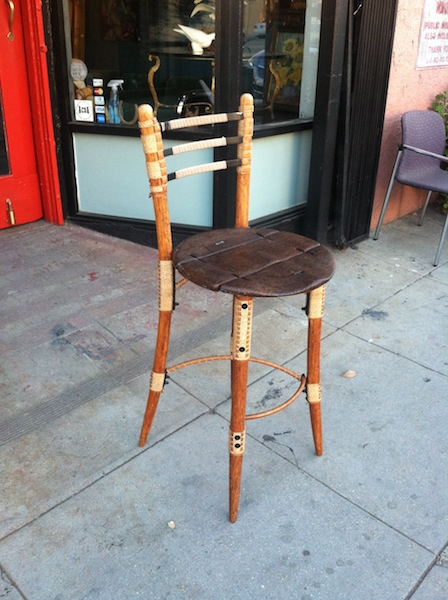 Hand Carved Counter Stool